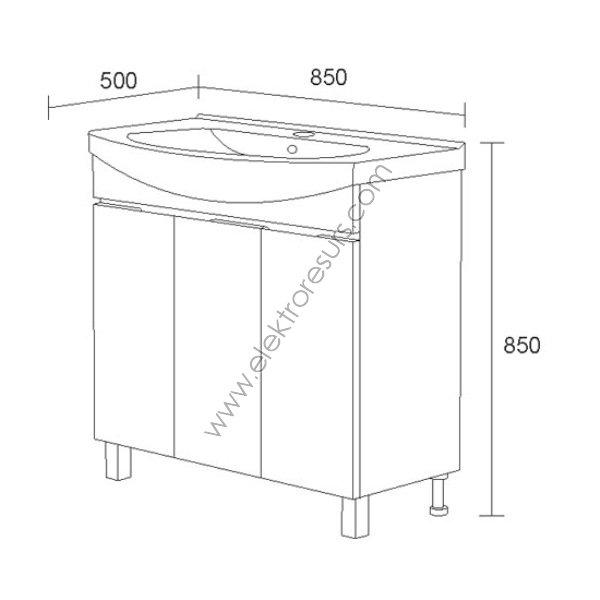 Шкаф за баня Мичиган- Долен
