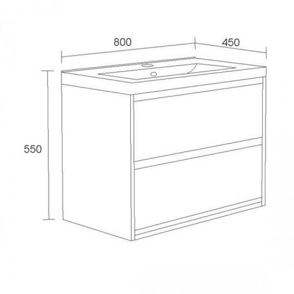 Шкаф за баня Канзас- Долен