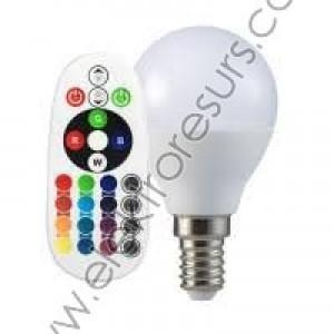 LED Крушка E14 3.5W RGB + 6400K Сфера + Дистанционно