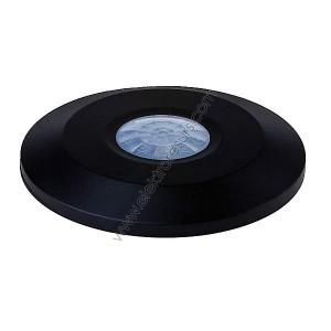 Датчик за движение 360° Плосък За таван Черен