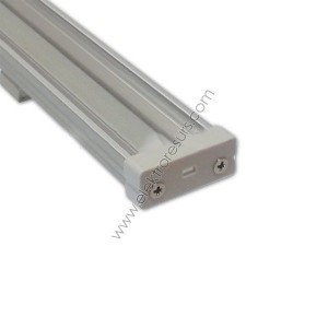 LED Алуминиев корпус Широк Прозрачен