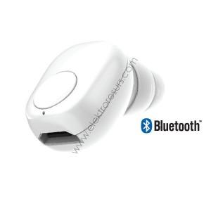 Bluetooth слушалка 55mAh 7705 Бяла