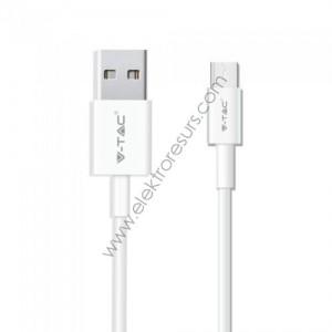 Кабел USB 1м Бял PEARL