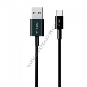 Кабел USB 1м Черен GOLD