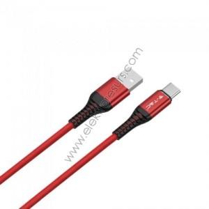Кабел USB 1м Червен