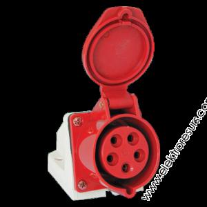 Неподвижен контакт 125/32A 3P+E 380V IP44