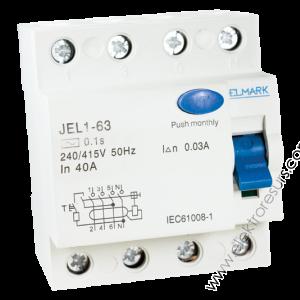 Дефектнотокова защита JEL-1 4P/25A- 30mA
