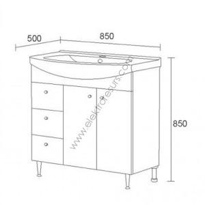 Шкаф за баня Вегас- Долен