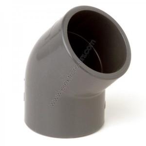 PVC Коляно Ф63/45° Напорно