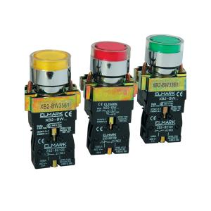 Бутон с LED индикатор EL2-BW3571 Жълт 24V