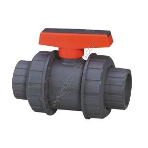 PVC Кран Ф63 Напорен За киселина Оранжев